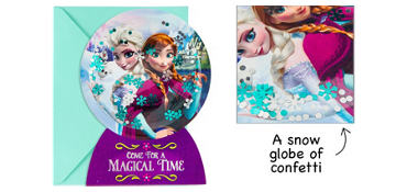 Premium 3D Frozen Invitations 8ct