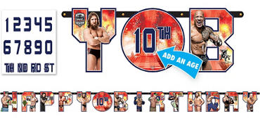 WWE Birthday Banner