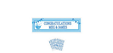 Boy Baby Shower Giant Personalized Banner - Celebrate