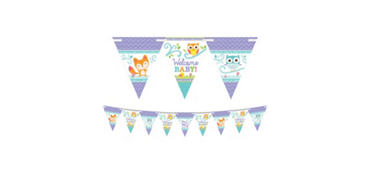 Woodland Baby Shower Pennant Banner