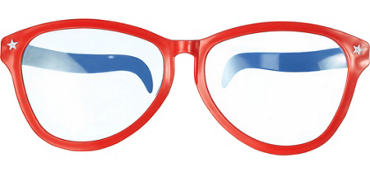 Red, White & Blue Giant Fun Glasses