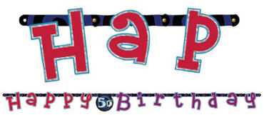 Oh No 50th Birthday Banner