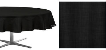 Black Round Fabric Tablecloth