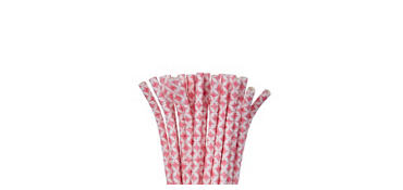 Pink Diamond Paper Straws 24ct