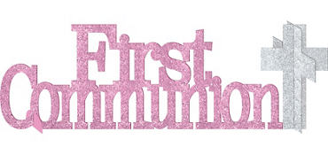 Glitter Pink First Communion Centerpiece