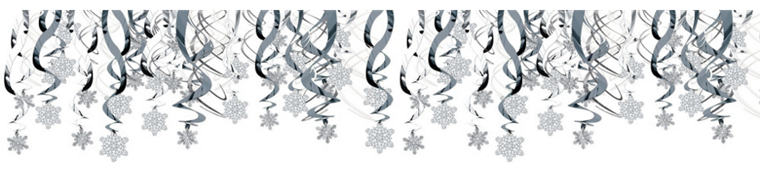 Snowflake Swirl Decorations 30ct