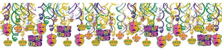 Mardi Gras Swirl Decorations 30ct