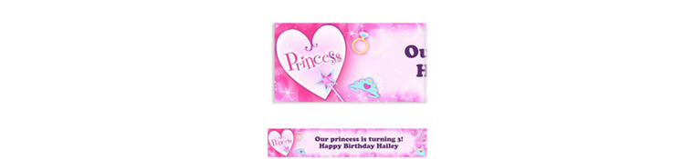 Princess Custom Birthday Banner 6ft
