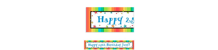 A Year to Celebrate Custom Birthday Banner