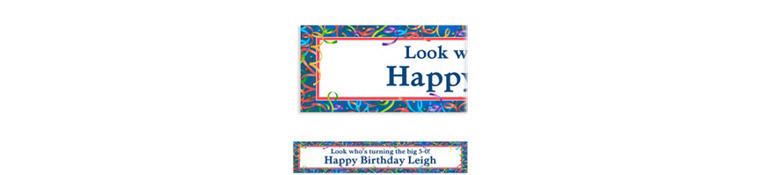 Custom Celebration Streamers Birthday Banner 6ft