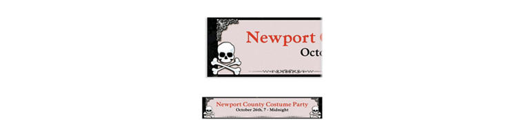 Custom Midnight Dreary Halloween Banner 6ft