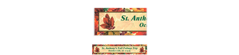 Custom Elegant Leaves Banner 6ft