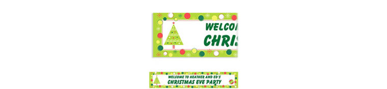 Custom Holiday Buzz Banner 6ft