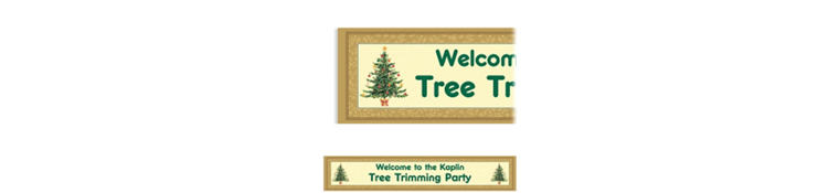 Custom Victorian Tree Banner 6ft