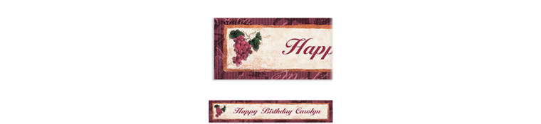 Custom Vineyard Grapes Banner 6ft