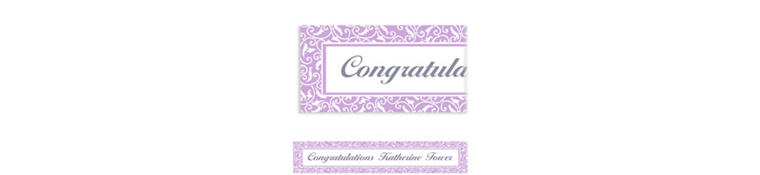 Custom Lavender Ornamental Scroll Banner 6ft