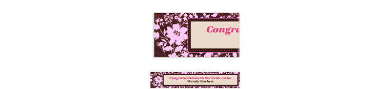 Custom Cocoa Floral Pink Banner 6ft