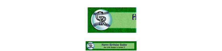 Colorado Rockies Custom Banner 6ft