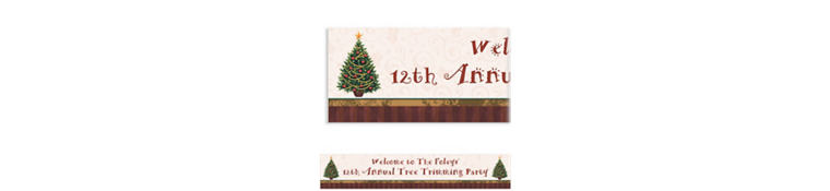 Custom Twinkling Tree Christmas Banner 6ft