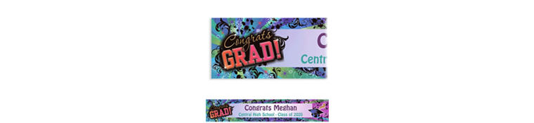 Custom Grad Reflections Banner 6ft