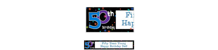 The Party Continues 50th Birthday Custom Banner 6ft