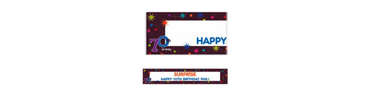 The Party Continues 70 Custom Banner 6ft