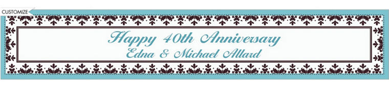 Custom Always & Forever Wedding Banner 6ft