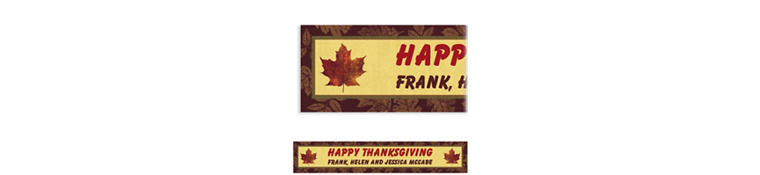 Fall Elegance Custom Banner