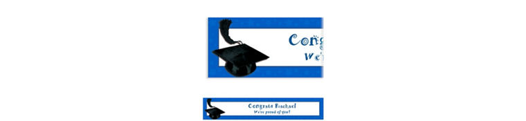 Custom Royal Blue Congrats Grad Banner 6ft