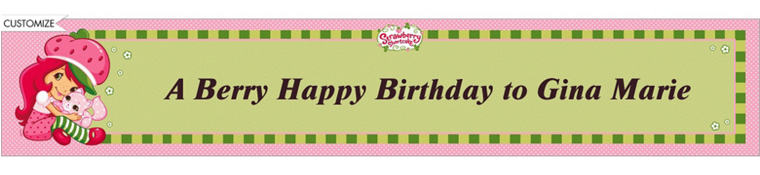 Strawberry Shortcake Custom Banner 6ft