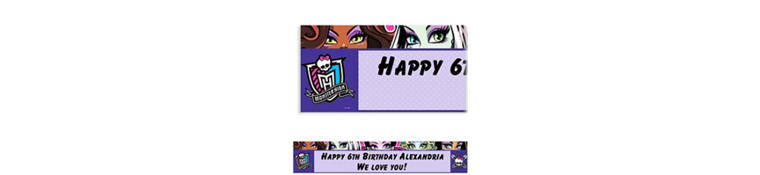 Monster High Custom Banner 6ft