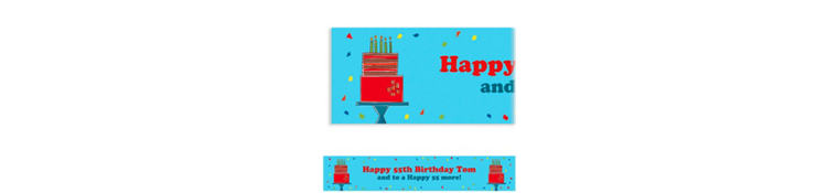 Fetching Birthday Cake Custom Banner 6ft