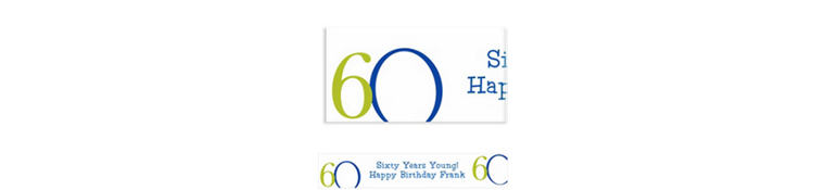 Great Big 60th Custom Banner 6ft