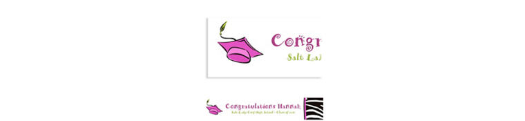 Custom Cute Grad Girl Graduation Banner 6ft