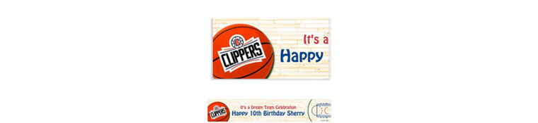 Custom Los Angeles Clippers Banner 6ft