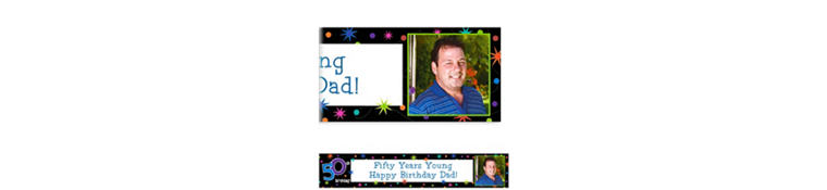 Custom The Party Continues 50th Birthday Photo Banner 6ft