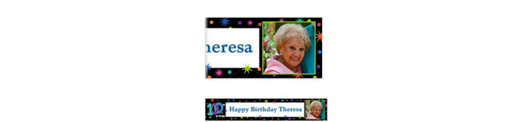 Custom The Party Continues 100th Birthday Photo Banner 6ft