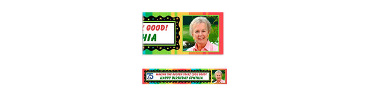 Custom A Year to Celebrate 75th Photo Banner 6ft