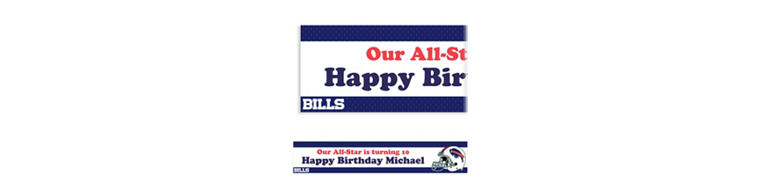 Custom Buffalo Bills Banner 6ft