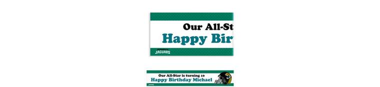 Custom Jacksonville Jaguars Banner 6ft