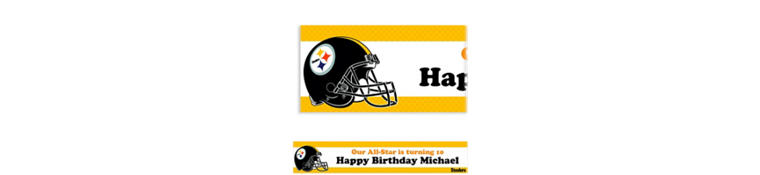 Custom Pittsburgh Steelers Banner 6ft