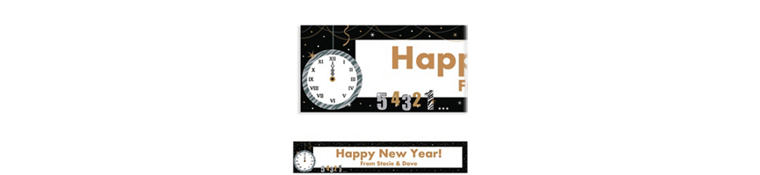 Custom Wild Countdown New Year's Banner 6ft