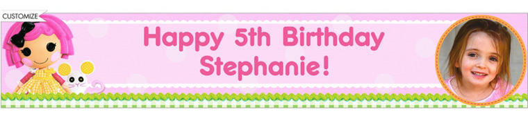 Lalaloopsy Custom Photo Banner 6ft