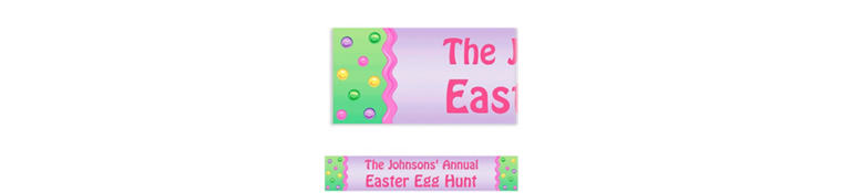 Happy Easter Egg Custom Banner