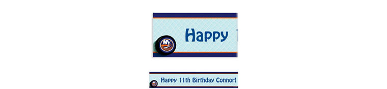 Custom New York Islanders Banner 6ft