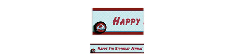 Custom Colorado Avalanche Banner 6ft