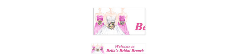 Bridesmaids Custom Bridal Shower Banner