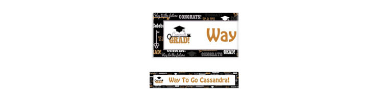 Custom Key To Success Graduation Banner 6ft
