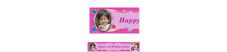 Sofia the First Custom Photo Banner