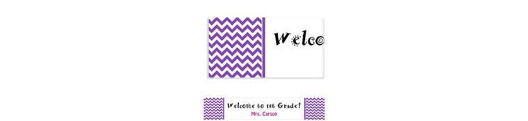 Custom Purple Chevron Banner 6ft